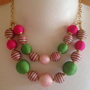 TALBOTS - It's A Wrap Spheres Necklace - NWOT